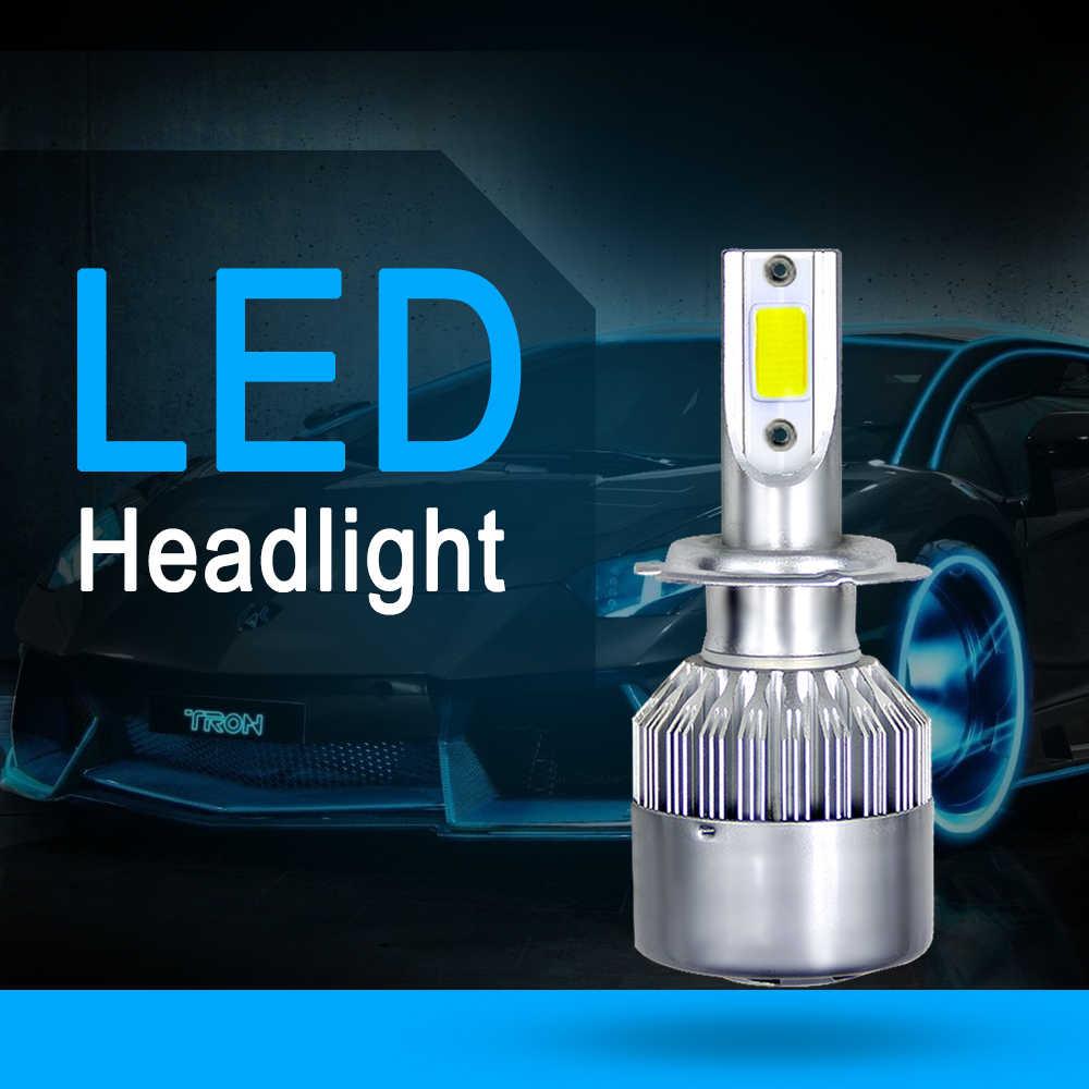 Muxall עמיד למים 72 w 7600LM C6 סופר מואר רכב אורות לבן צבע 6000 k H4 H7 H8 H9 H11 9005 9006 רכב LED פנס הנורה