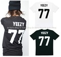 New YEEZY 77  T-shirt Black White Celebrity ASAP Tisci Les Artist Inspir