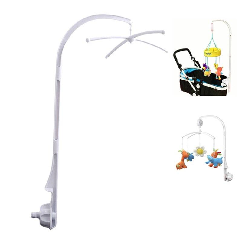 Baby Toys White Rattles Bracket Set Baby Crib Mobile Bed Bell Toy Holder Arm Bracket Wind-up Music Box
