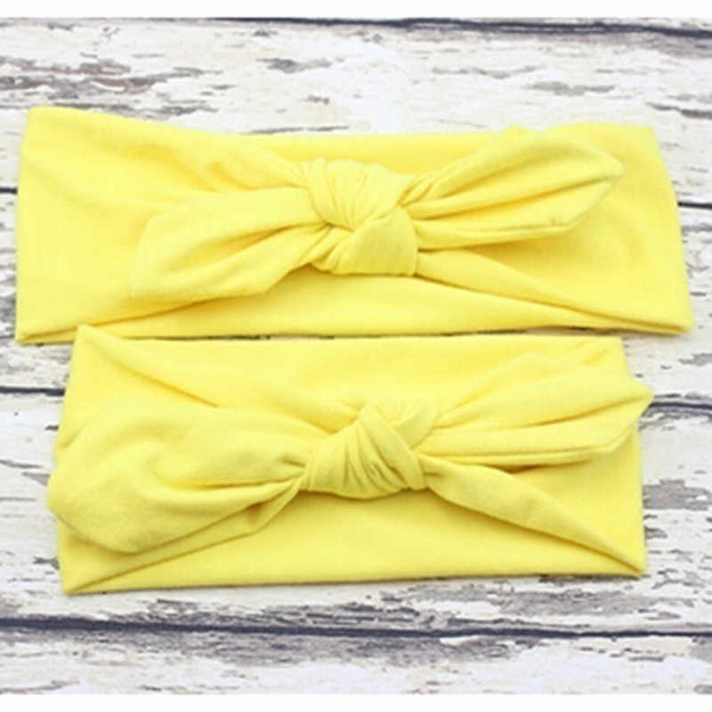 Pcs/Pair Kid Girls Mother Daughter Rabbit Ear Bow Headband Elastic Hair Band High Quality Cute Lovely Hoop Hair Knot Stretch