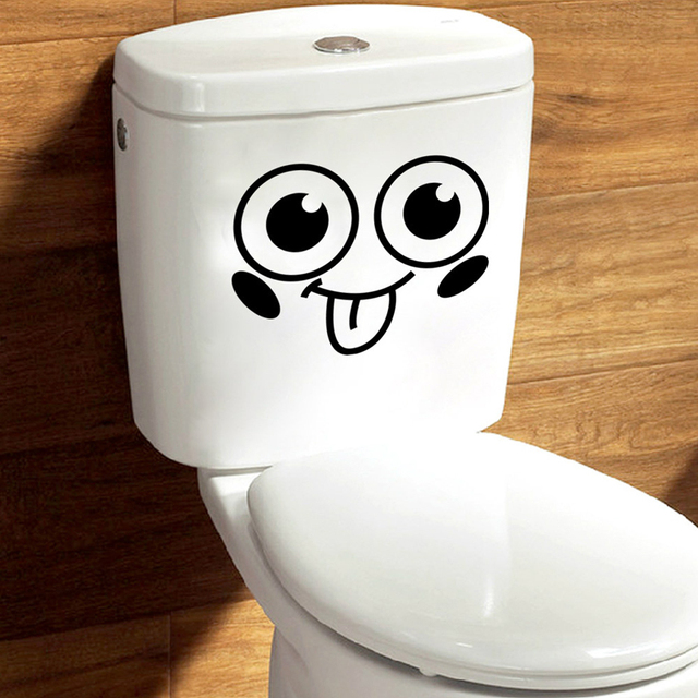 Aliexpresscom  Buy PCS Big Smiling Toilet Stickers Adesivos De - Vinyl cup brush