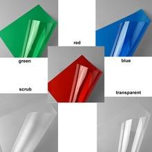 5PCS/LOT  0.3mm 20*30cm five colors ABS plastic transparent PVC sheet for architectural model making building houses five houses of zen