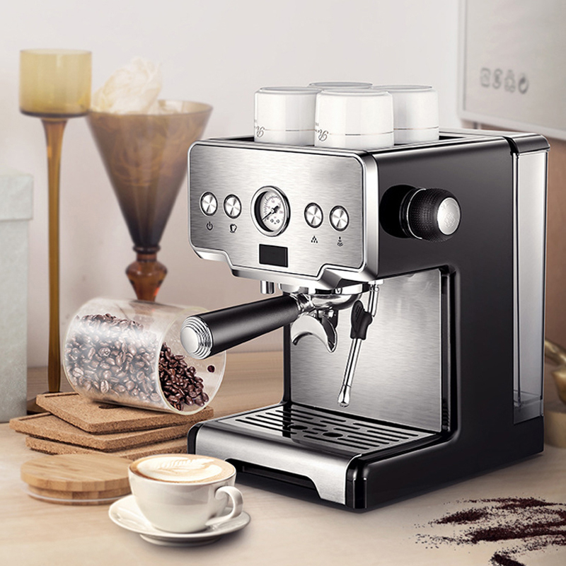 Itop máquina de café espresso máquina de café em aço inoxidável 15 bares semiautomática comercial italiano máquina de café