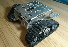 RC Metal Tank Chassis Walee Crawler Tracked Tank Chassis Smart Car Chassis Tracked Vehicle DIY RC