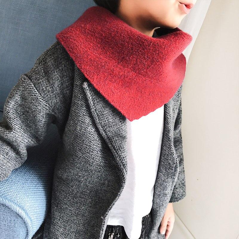 FäHig Herbst Und Winter Kinder Feste Farbe Dicken Schal Kaninchen Kaschmir Mode Warme Dicke Dreieck