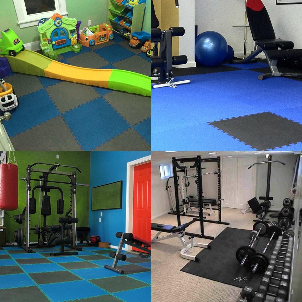 Floor mats with cushion - Indoor Travel Kits 6 Pcs 60 60cm Protective Floor Mat Anti Fatigue Interlocking Eva