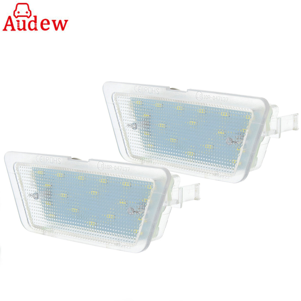 Car LED License Number Plate Light White Auto Tail Plate Lamp 12V-30V For Vauxhall Opel Astra G MK4 1998-2004 audew 18 led license number plate light for vauxhall opel corsa c d astra h insignia