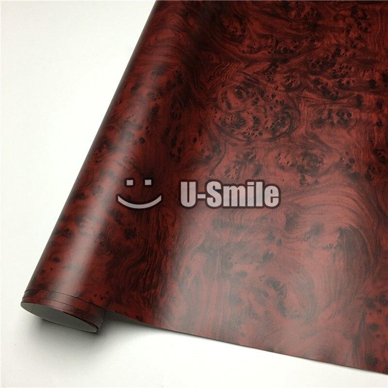 Oiseaux oeil bois auto-adhésif vinyle Grain de bois vinyle pour meubles muraux voiture taille intérieure: 1.24X50 m/rouleau (4ftX165ft)