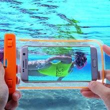 Pvc nadar fotografia saco luminosa à prova d' água capa para iphone 5 5s 6 s mais caso capinha para samsung galaxy j5 j7 a3 a5 a7 g530