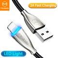 Mcdodo светодиодный LED освещение зарядное устройство кабель для iPhone X XS Max 8 7 Plus iPad 2 USB Шнур для apple lightning Быстрая зарядка данных USB кабель - фото