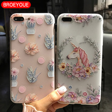 BROEYOUE Case For Xiaomi Redmi 4X 4A Note 4X Note 5A 3 Redmi 3 3S 3X For Xiaomi 5X Mi 5S Mi6 Plus 4I 4C TPU Relief Flowers Cover