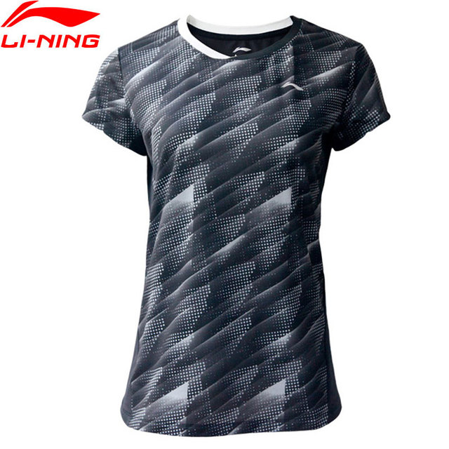 Li-Ning Women's Badminton Competition T-Shirts 88%Polyester 12%Spandex AT DRY LiNing Basic Sports Tops Tees AAYP046 WTS1491