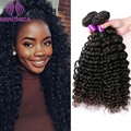 Brazillian Virgin Hair Deep Curly 4 Bundles Deep Curly Brazilian Hair Bundles For Sale 100g/pcs Human Hair Weave Extensions