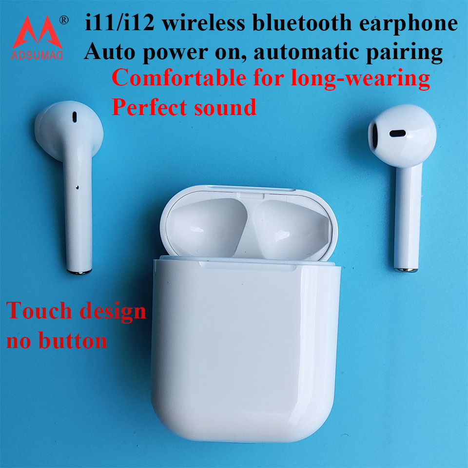 10 pcs bluetooth earphone wireless headset earbuds i11 i12 tws for iPhone android handsfree Pop up