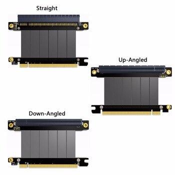 Xiwai PCI-E Gen3.0 16x To 16x Riser Cable 10cm 20cm 50cm PCI-Express PCI-E X16 Extender Right Angled Elbow Design