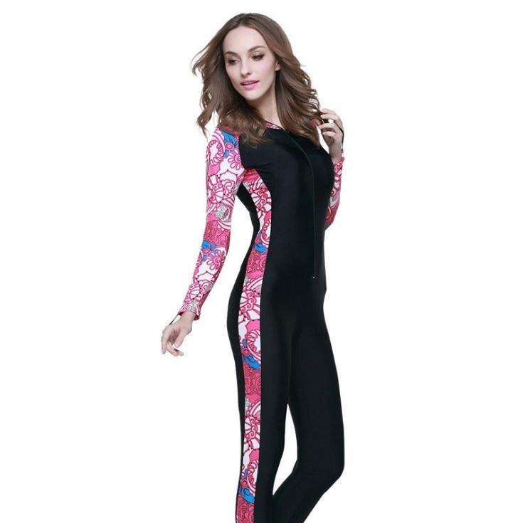 Женщины Человек из одного предмета с длинными рукавами брюки погружной костюм surf стволы серферов для защиты от холода и тепло предотвратит... - 3