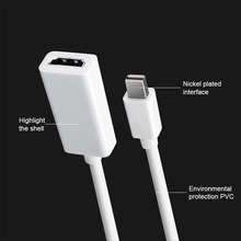 Thunderbolt Mini DisplayPort DP To hdmi Adapter Cable Male to Female Mini DP to hdmi Converter for Apple MacBook Air Pro aiffect 4k mini dp to hdmi cable mini displayport to hdmi cable thunderbolt port hdmi mini dp cable cord line premium version