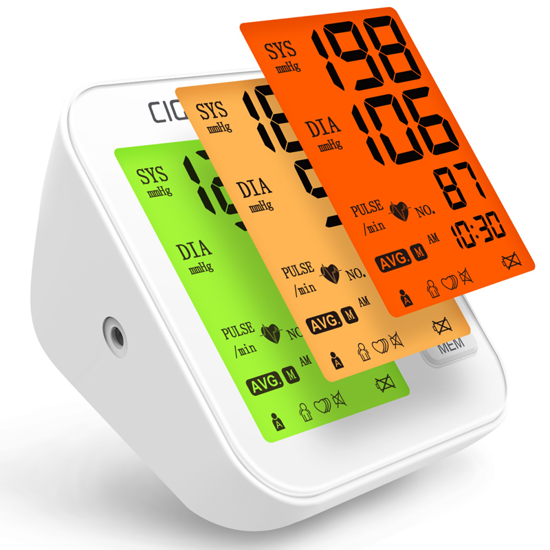 Cigii LED Display Green Light Heart Rate Monitoring Big Screen Digital Display Health Care Tonometer Blood Pressure Monitor