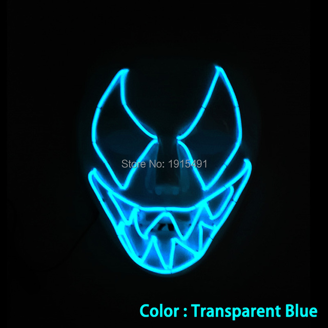 Popular Handmade Holiday Lighting Energy Saving EL wire Mask ...