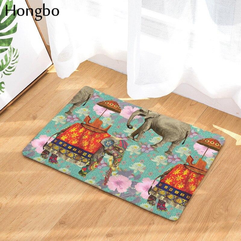 Hongbo Entrance Door Mat Cartoon Elephant Giraffe Kitchen Rugs Bedroom Carpets Decorative Stair Mats Home Decor Crafts