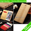 Elegent Diamond Case For iPhone 6S For iphone 6 Metal Magnetic Buckle Folded PU Leather Cases