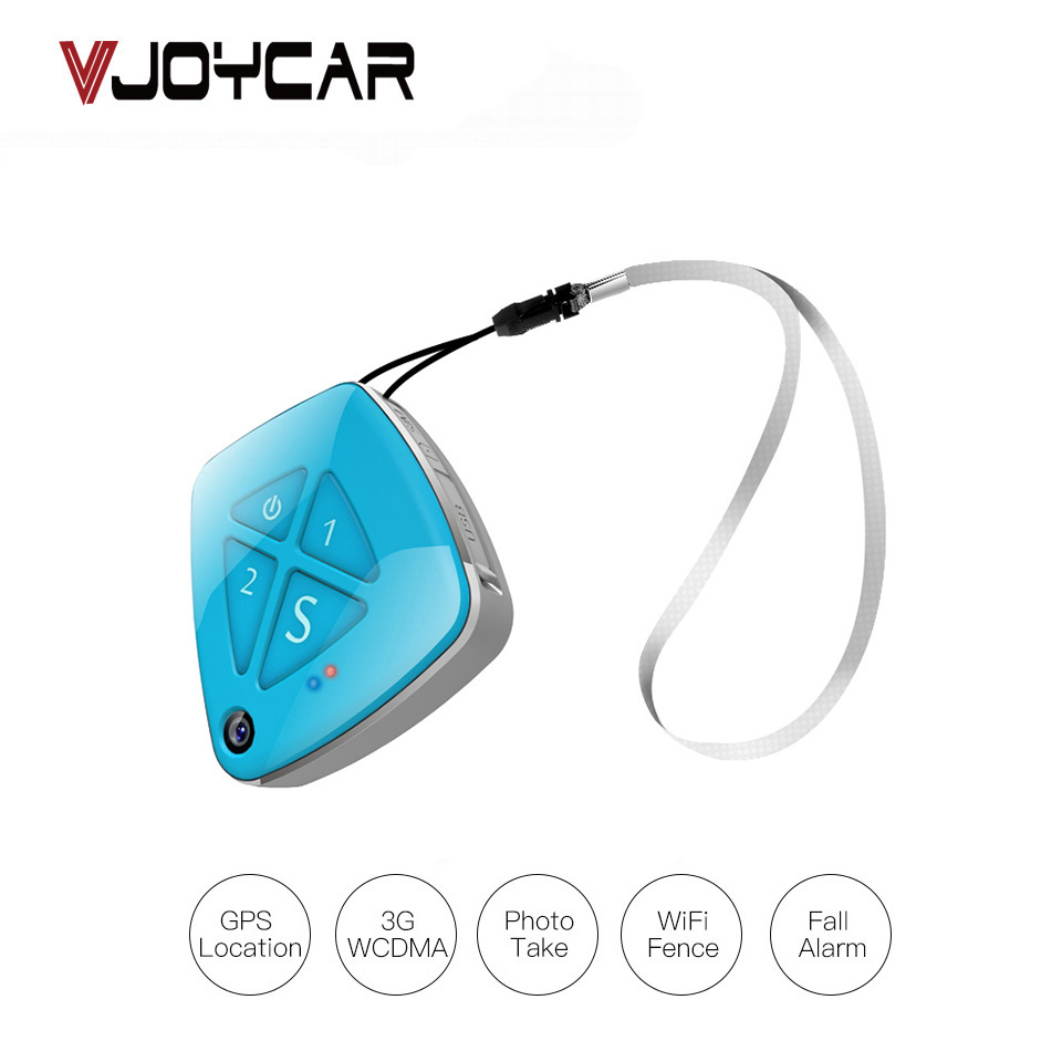 VJOYCAR Personal Necklace 3G GPS Tracker Children With Camera Two Way Phone Call Fall Alarm SOS Alert Real Time Tracking APP цена