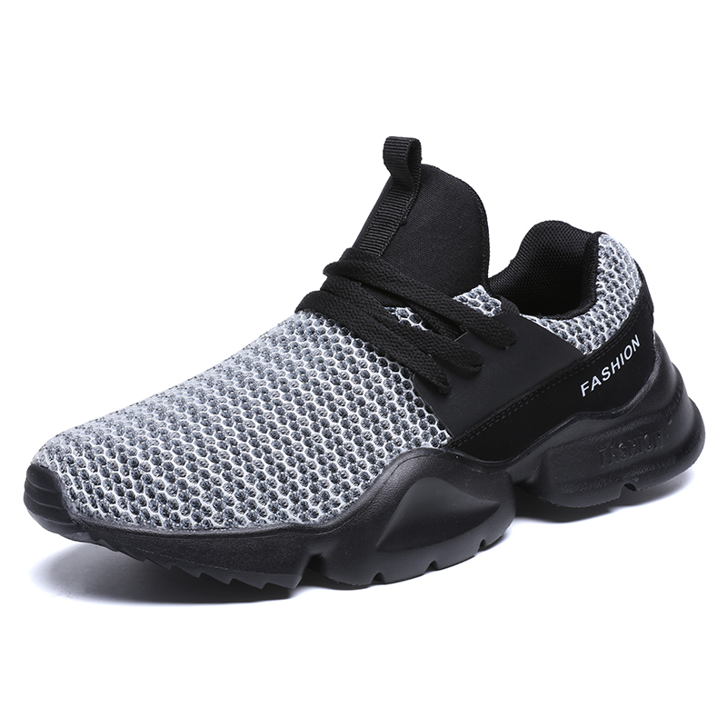 2018 Hot Sale Running Shoes For Men Outdoor Walking Sneakers Lace-up Athletic Trainers Breathable Sports Male Air Mesh Shoes