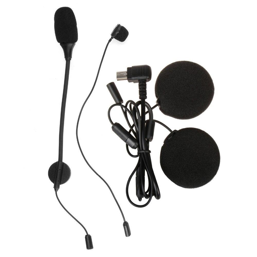 1 Set Stereo Earphone Headphone Microphone For M1-S Motorcycle Helmet Intercom Headset