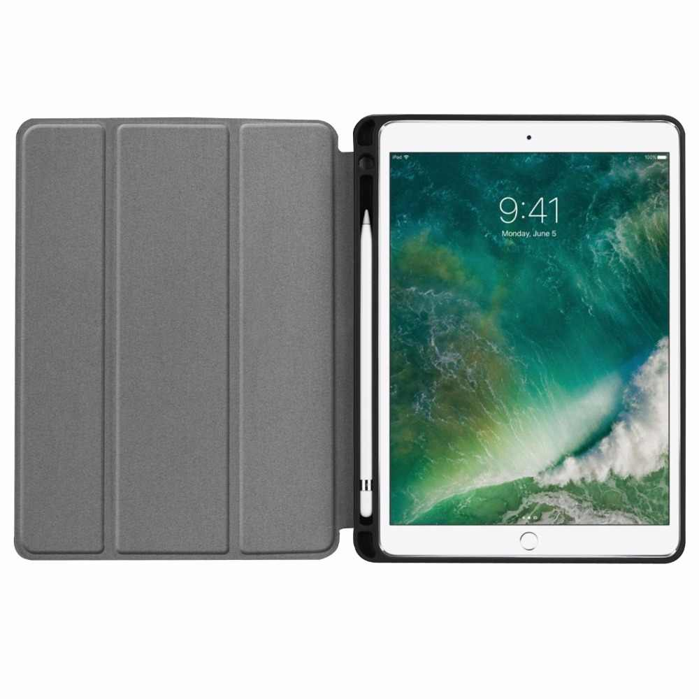 pretty nice 810ce 9e777 For iPad air 10.5 2019 Case with Pencil Holder cover Magnetic Stand pu  leather Smart Cover for iPad Pro 10.5 inch case