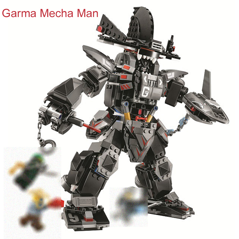 775Pcs Ninjagoed Movie Figures Garma Mecha Man Model Building Kit Blocks Bricks Christmas Toy For Children Gift Compatible 70613 5pcs lots 2017 film extraordinary corps mecha five beast hand collection model toy