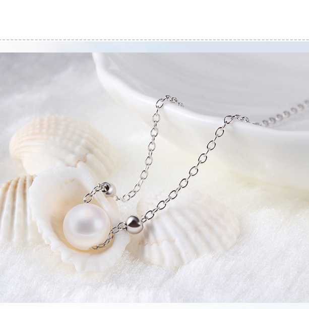 Pearl Necklaces For Woman Pure Sterling Silver Jewels Ball Pendants Charms Cross Chain Fashion Jewelry Crafts Bijoux Elegant 1pc