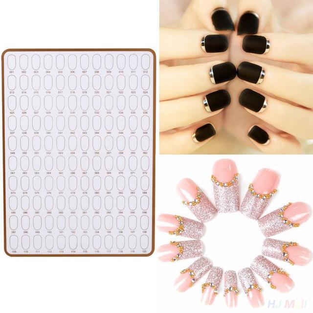 Herramienta del Cuidado del clavo Tratamiento 120 Colores Pantalla Placa de la Tarjeta de Color de Esmalte de Uñas 87175