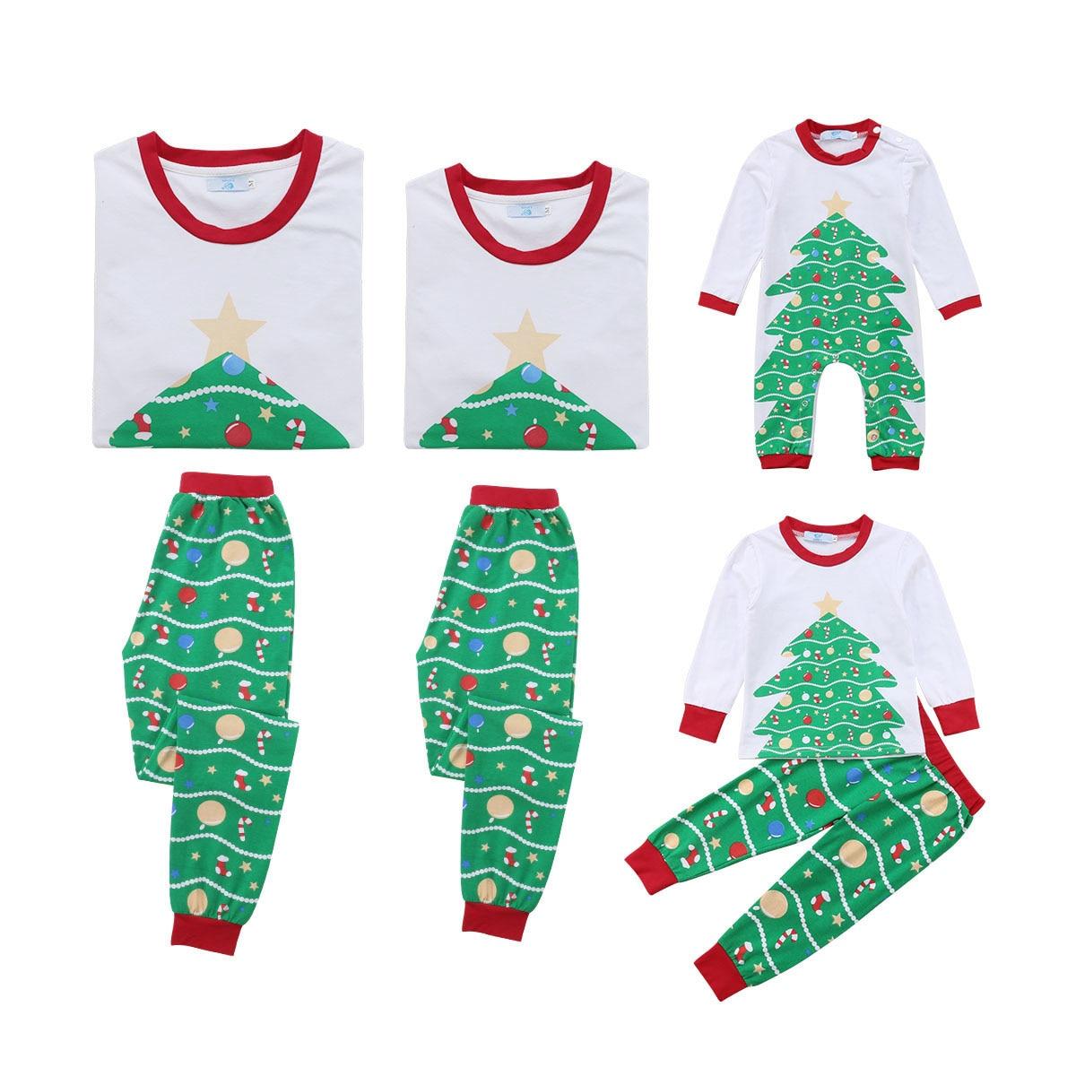 Pudcoco 2019 Lovely Kid Adult Family Matching Christmas Tree Pajamas PJs  Sets Xmas Sleepwear Nightwear UK 5ae2e147b