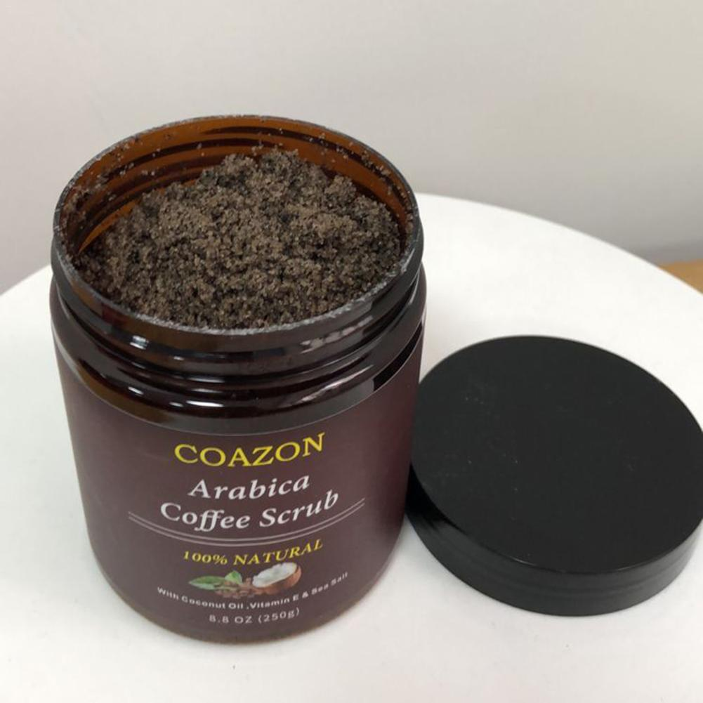 250g Coffee Scrub Body Scrub Cream Facial Dead Sea Salt For Exfoliating Whitening Moisturizing Anti Cellulite Treatment Acne 4