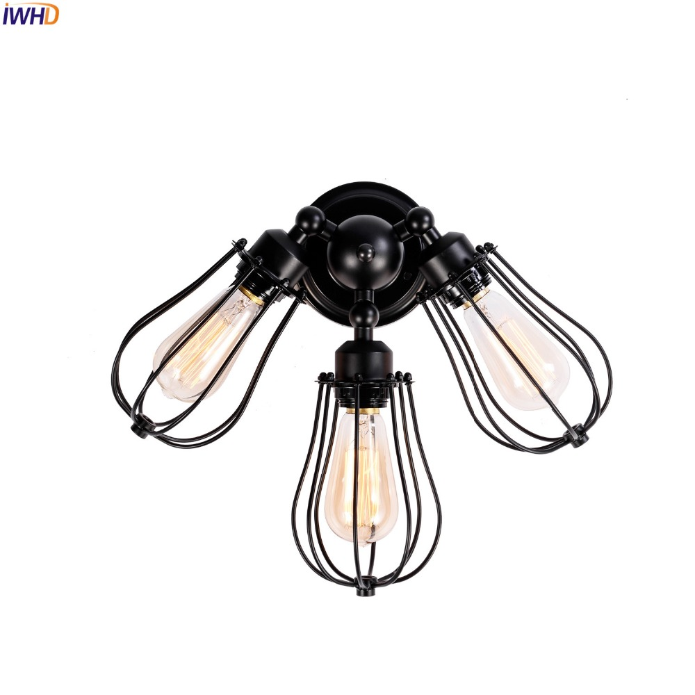 IWHD Edison Retro Vintage Wall Lights Fixtures For Home Indoor Lighting Loft Industrial Wall Lamp Sconce LED Stair Lights труба pp alux арм алюминием pn 25 20 mm valtec vtp 700 al25 20 2м