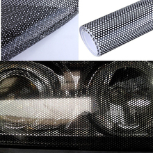 107cm*30cm Hollow Automobile Lamp Film Grid Side Shield STICKER BLACK Headlamp Taillight Honeycomb Pattern  Car Wrap