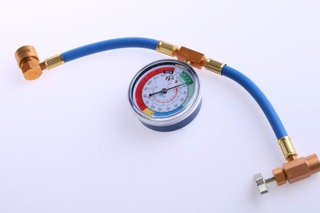 Adaptador de indicador de manguera para coche, tubo de carga de refrigerante A/C, R134a, novedad, 1 unidad, qyh caliente