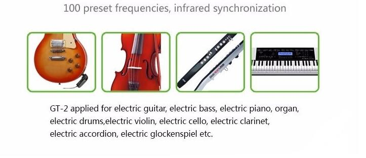 Latest Collection Of True Diversity Wireless Guitar Microphone System Uhf For Electric Bass Piano Organ Drum Violin Cello Clarinet Accordion Etc Live Equipment
