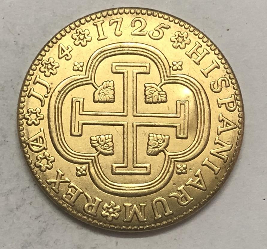 1725 Spain 4 Escudos-Felipe V Cuenca Copy Coin