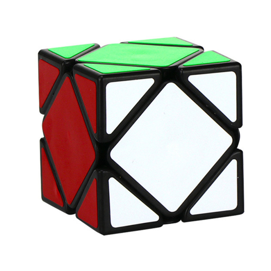 YJ GuanLong Skew Cube 3x3 Black Sticker Magic Cube 3 Layers Speed Magic Speed Cube Professional Puzzle Toys For Children Gift