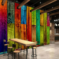 3d Wall Paper Home Improvement Decorative Painting Wallpaper For Walls Living Room Colored Wooden 3d Non
