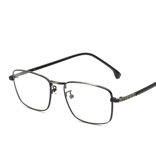 c4c254058b6 Metal Square Eyeglasses Frames Prescription Eyewear Frame Thin Clear Lens  Myopia Optical Glasses Spectacle Frames For