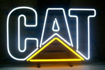 Custom CAT Glass Neon Light Sign Beer Bar