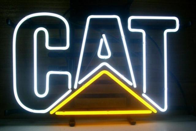 Custom CAT Glass Neon Light Sign Beer Bar
