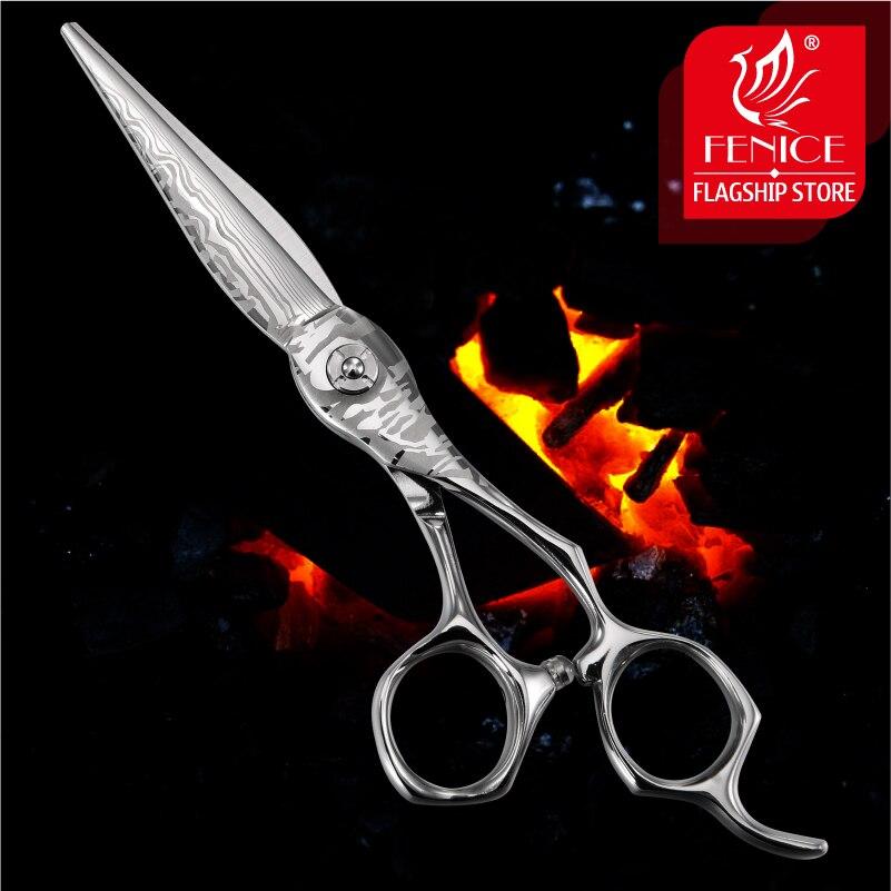 フェニーチェ 6.0 インチダマスカスはさみ髪のプロフェッショナル日本 VG10 ステンレス鋼高品質理髪はさみ切断はさみ  グループ上の 美容 & 健康 からの ヘア ハサミ の中 1