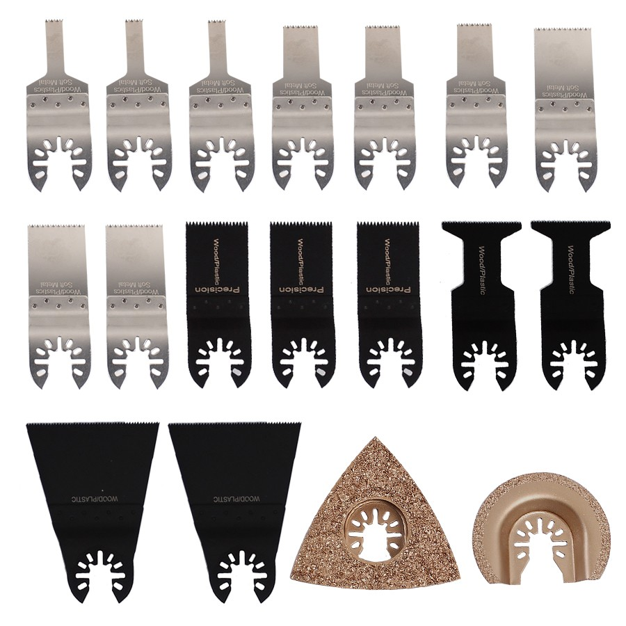 цена на 18pcs/set Oscillating Tool Saw Blades Accessories Fit for Multimaster Renovator Power Tools as Fein, Dremel etc