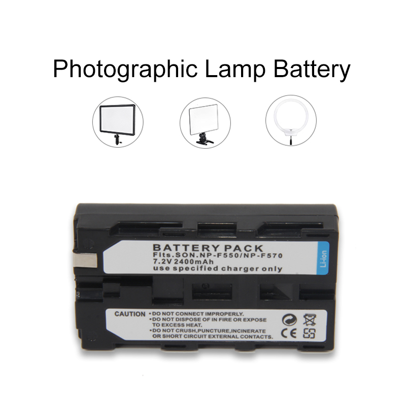 1pcs 2400mAh NP-F550 NP-F570 Rechargeable Lithium-ion <font><b>Battery</b></font> Pack For NP-F550 <font><b>F750</b></font> F970 F960 LED Video Light Lamp <font><b>Battery</b></font> image