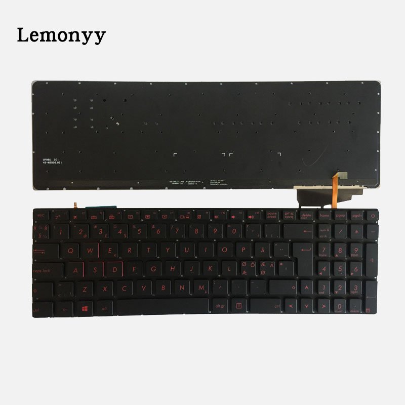 Nordic keyboard FOR ASUS GL552 GL552J GL552JX GL552V GL552VL GL552VW N552VW N552VX G771JM G771JW backlit black laptop keyboard nordic keyboard for asus gl552 gl552j gl552jx gl552v gl552vl gl552vw n552vw n552vx g771jm g771jw backlit black laptop keyboard
