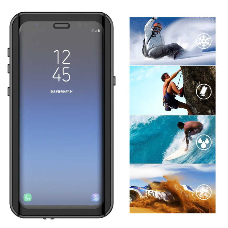 low priced 8798c be6f0 Waterproof Case for Samsung Galaxy note 9 note 8 S7 edge S8 S9 Plus  Transparent Shockproof Cover For iPhone 7 8 X 6S 6 coque