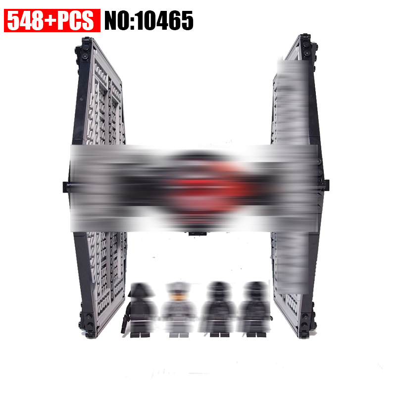 10465 548pcs Space wars First Order Tie Fighter Building Blocks Compatible 75101 DIY Bricks Toys for Children toys in space